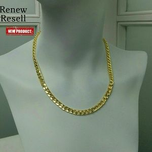 "NWOT 18"" Gold Filled Curb Link Chain Necklace"